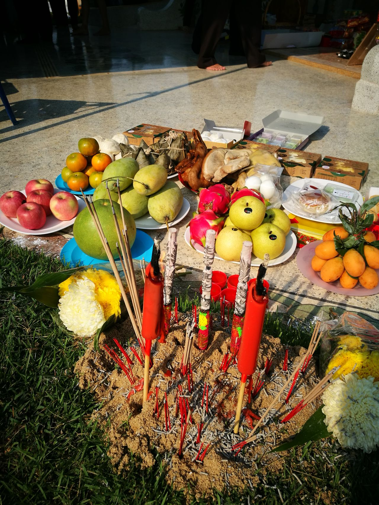 Ancestor Ancestor Worship Ancestors Chinese Chinese Culture Day No People Outdoors Qingming Qingming Day Qingming Festival Sacrificial Offering Worship