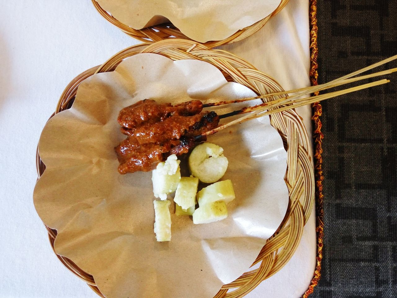 Sate Ayam (Indonesian Chicken Satay) Food And Drink Indoors  Food Close-up No People Ready-to-eat INDONESIA Temptation Serving Size