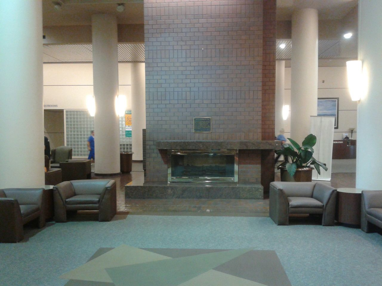 This is the Lobby of Harris Methodist Hospital in Fort Worth, Texas TX