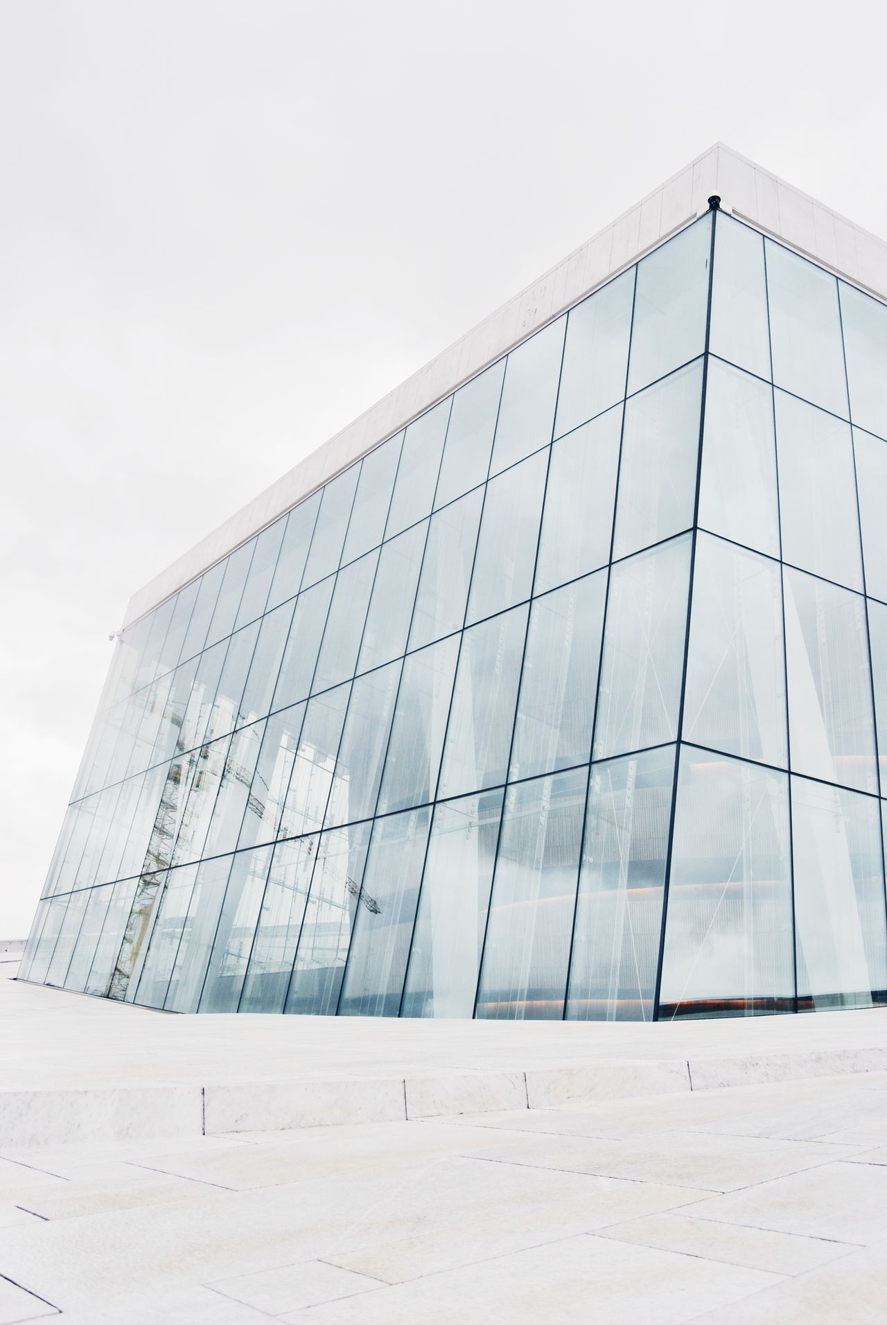Architecture Building Exterior Built Structure Clear Sky Contemporary Europe Lightness Low Angle View Marble Marbledstone Modern Modern Modern Architecture Nordic Light Norway Office Building Oslo Oslo Opera Oslo Opera House Oslo, Norway WhiteCollection Snøhetta Studies Of Whiteness White White Album