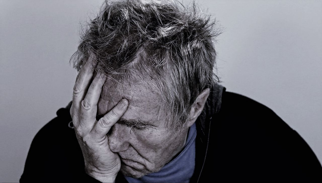 Adult Adults Only Close-up Day Defeat Depression - Sadness Despair Disappointment Distraught  Emotional Stress Grief Head In Hands Human Body Part Human Hand Men One Man Only One Person Only Men Pain People Studio Shot Tensed Worried Young Adult