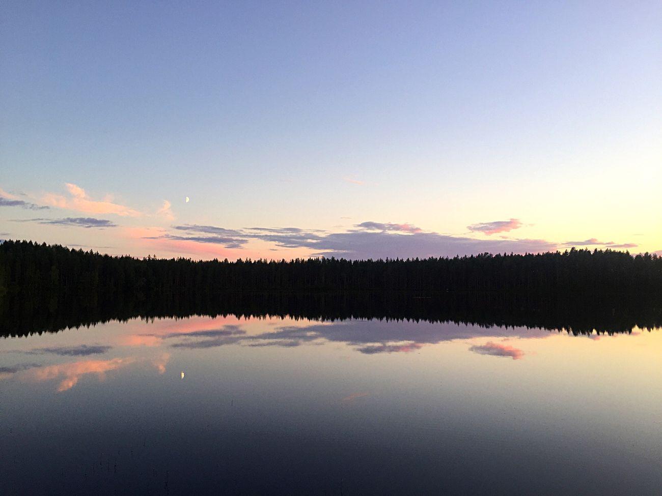 Finland Nightless Night Moonsetting 11pm SummerNights