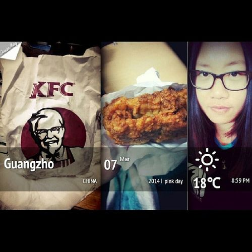 KFC Pinkday Love thanks for my dear roommate