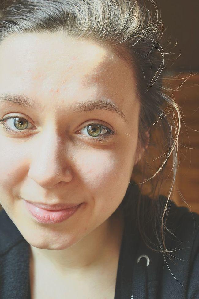 Me Polishgirl Brunette Nomakeup Morning Matura Exams Chemistry Biology Studying