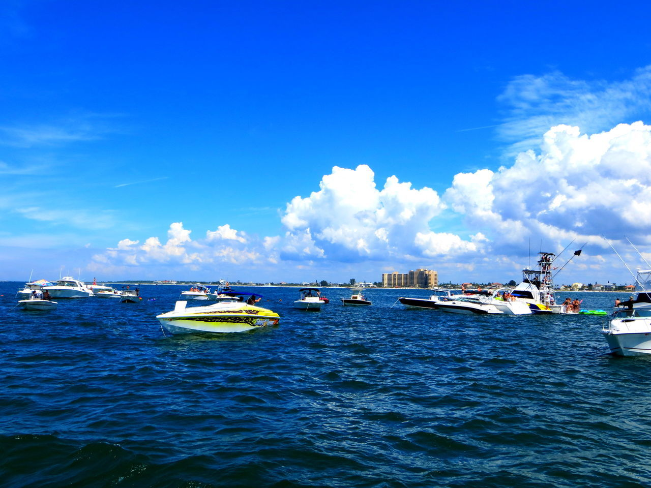 Beautiful Day Boat Races Boats⛵️ Cloud - Sky Nautical Vessel Out On The Water Outdoors Relaxing ♥ Sky Water Waterfront Weekend Activities White Clouds And Blue Sky White Clouds On The Sea Blue Wave