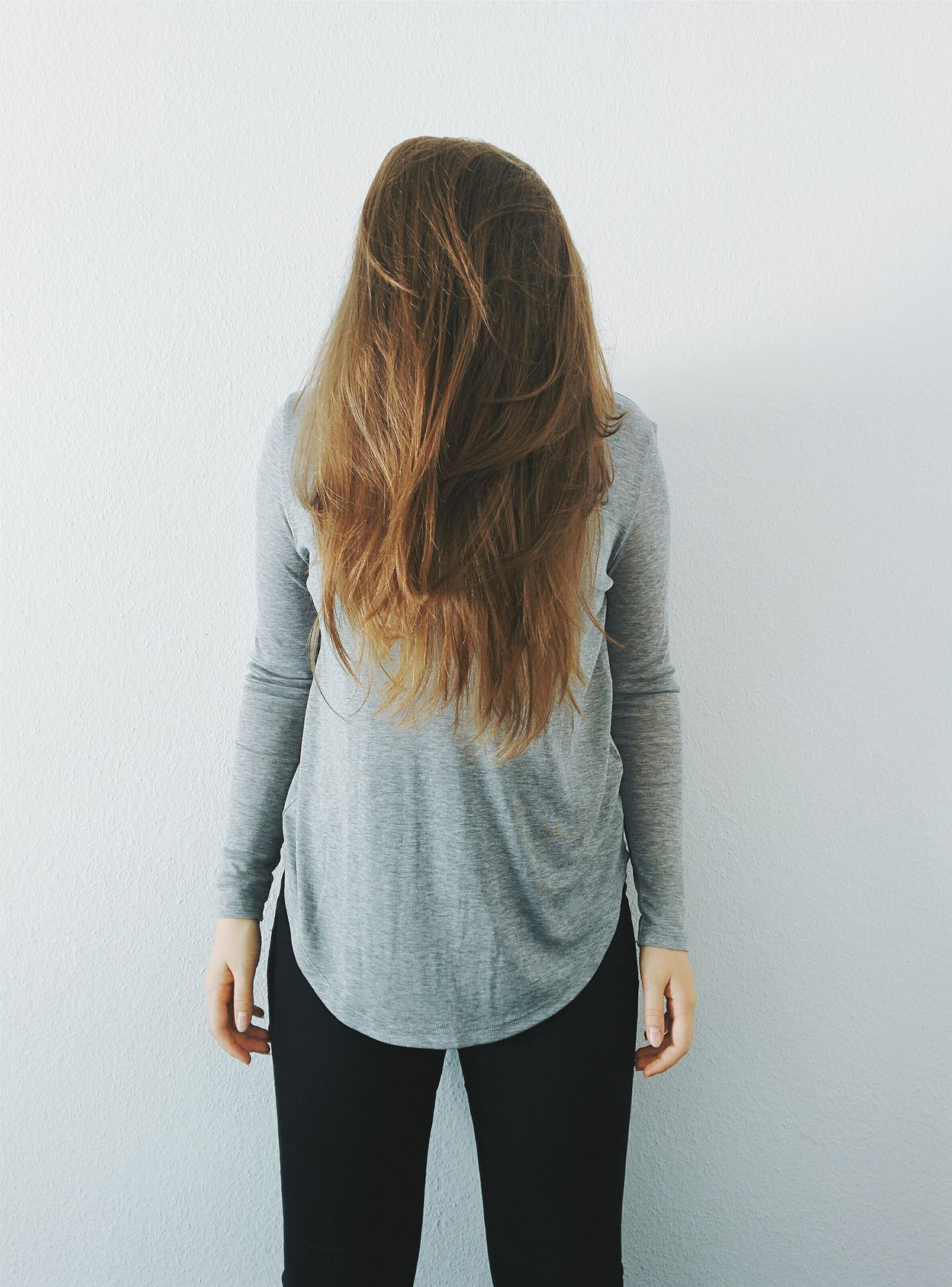 Beautiful stock photos of hair, Brown Hair, Casual Clothing, Covering, Front View