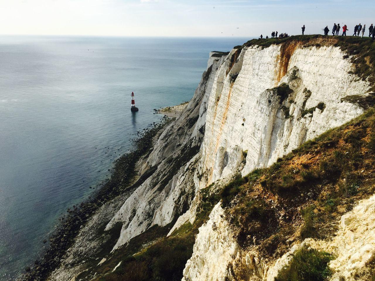 White cliffs in Beachy Head