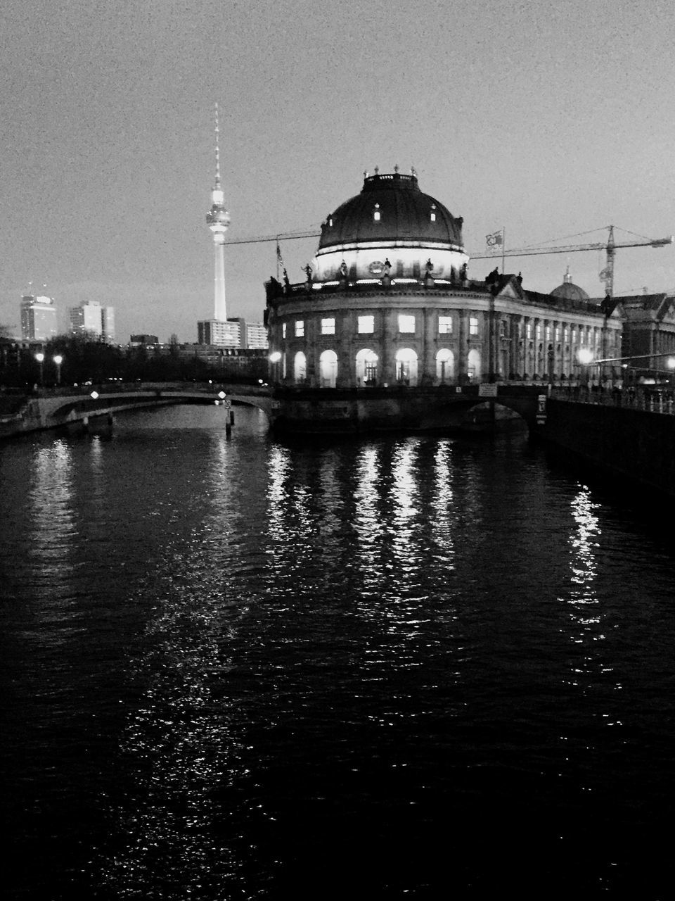 Museum Island On Spree River At Dusk