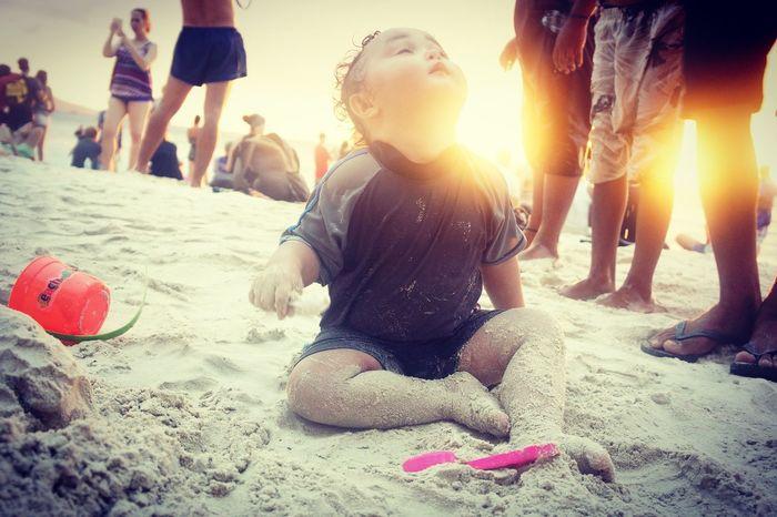 Philippines Boracay Beach Baby