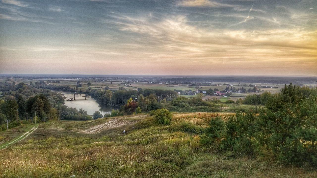 River Bridge Poland Krzeszow Day Clouds Passion