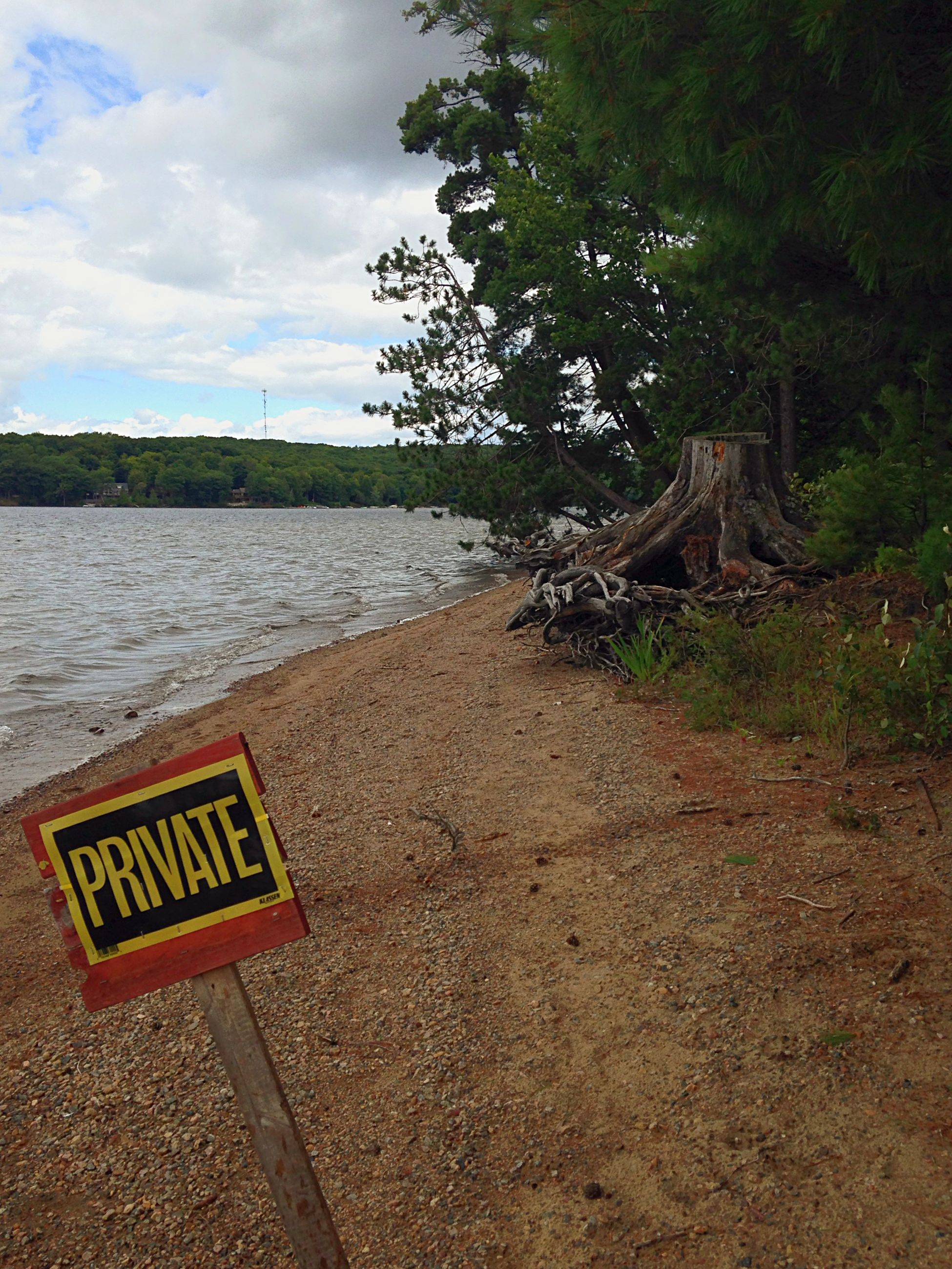 What a fancy looking private beach. No Trespassing Beach Lake Lake View Vacation
