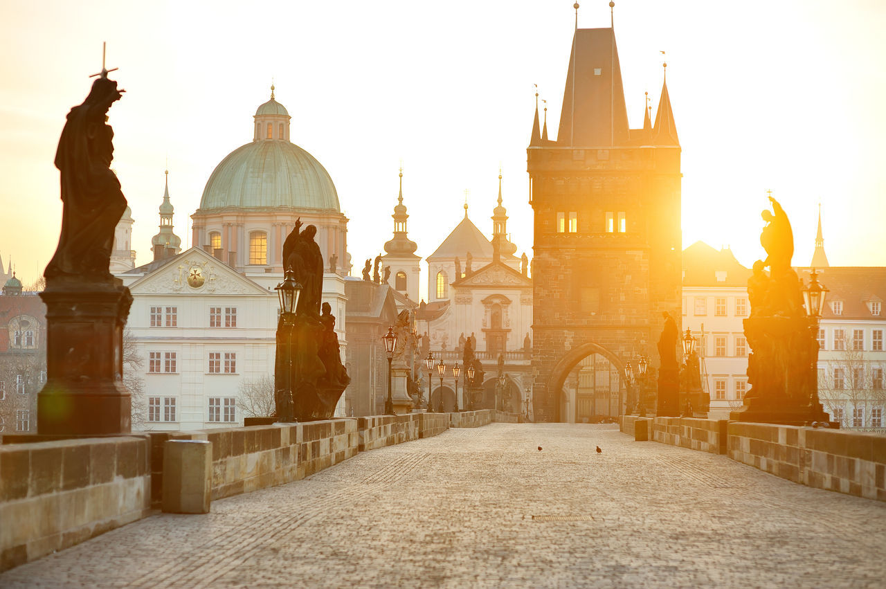 Beautiful stock photos of prague, architecture, built structure, building exterior, dome