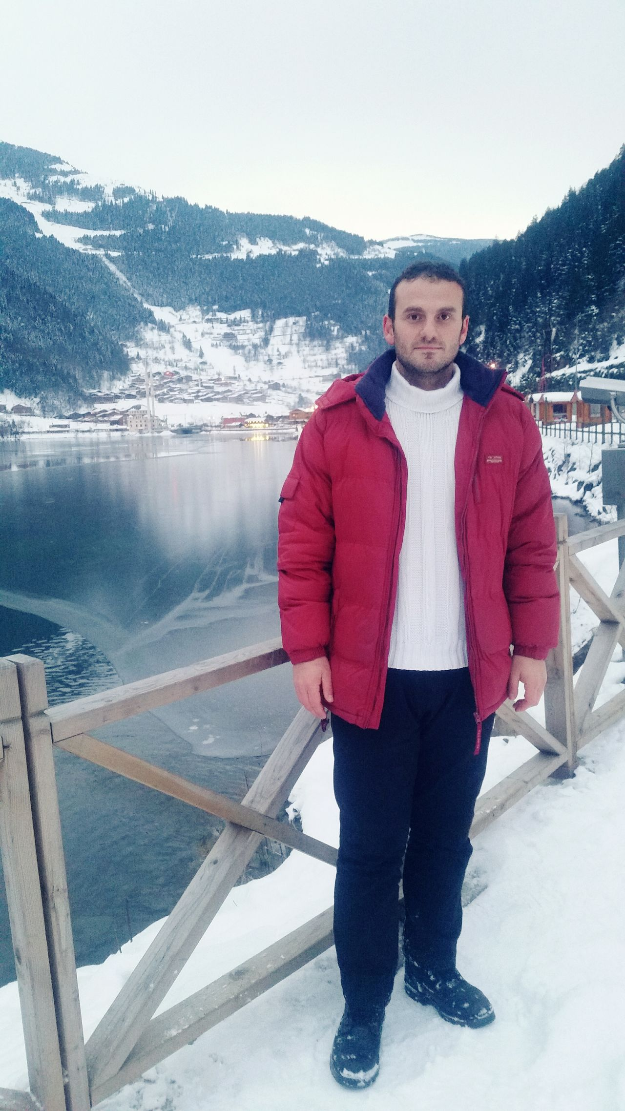 One Man Only Sky People Cold Temperature Warm Clothing Samsung Galaxy S5 Trabzon Uzungol Turkey Balık Trabzon One Person Winter Snow