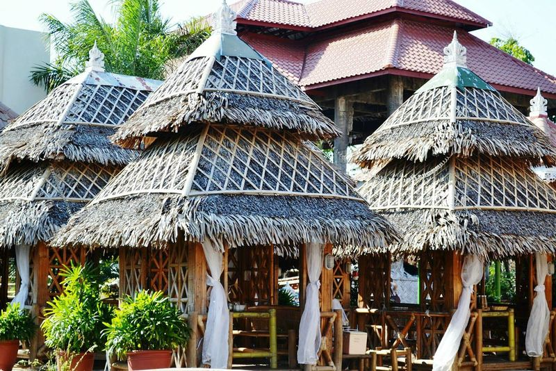 Huts @ Isdaan Laguna PH Building Exterior Built Structure Architecture Low Angle View Outdoors Day No People Roof Eye For Photography Around The World Life Tourism EyeEm Laguna Photography Is My Escape From Reality! EyeEm Gallery Philippines Photos Philippines Eyeem Philippines Enjoying Life