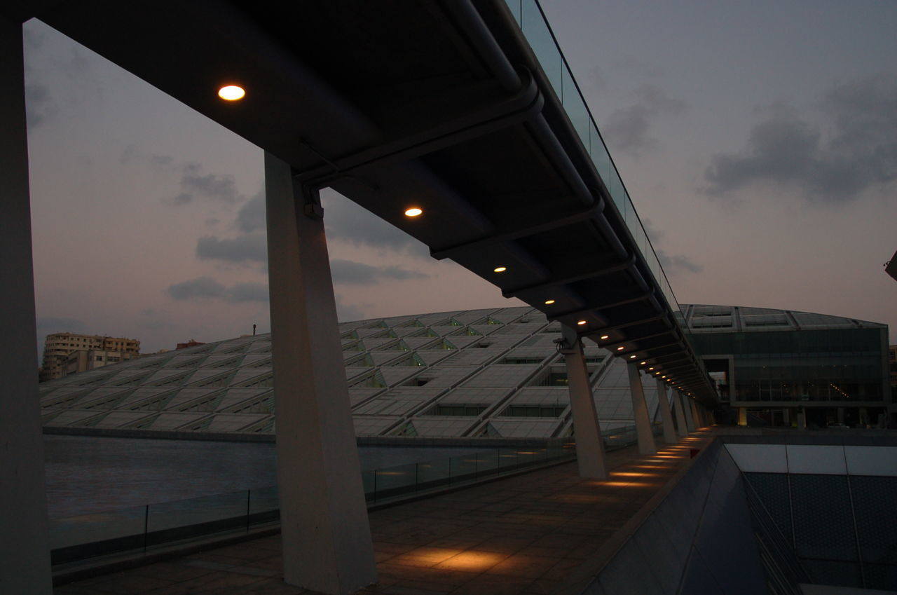 Alexandria Egypt Architecture Bridge - Man Made Structure Built Structure City Day Illuminated Library No People Outdoors Sky Transportation Tree