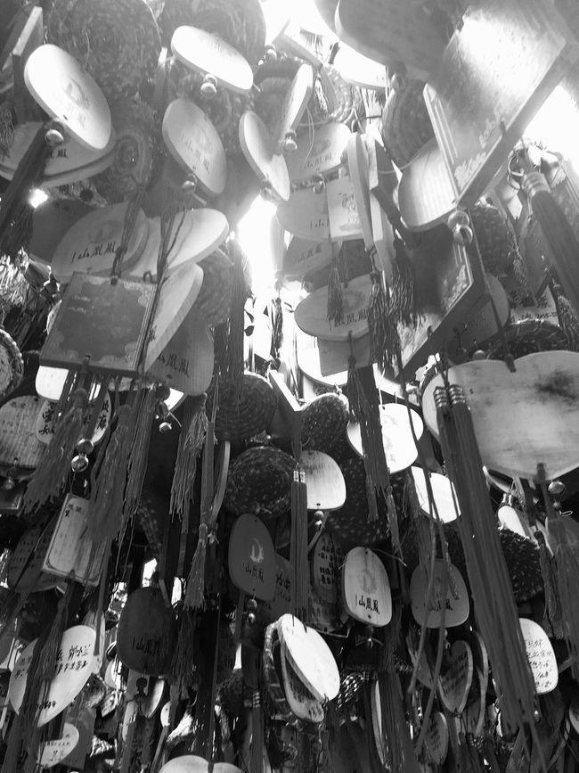 Chinese Wishing Tree at Phoenix Mountain in Baoan - Shenzhen, China Wishes Wish Tree China Traditional Culture Wishing Tree Shenzhen Buddhism Mountain Chinese Buddhist Temple BaoAn Temple Phoenix Mountain Tree Traditional Chinese Chinese Culture Chinese Style Traditionally Chinese Hanging Black And White