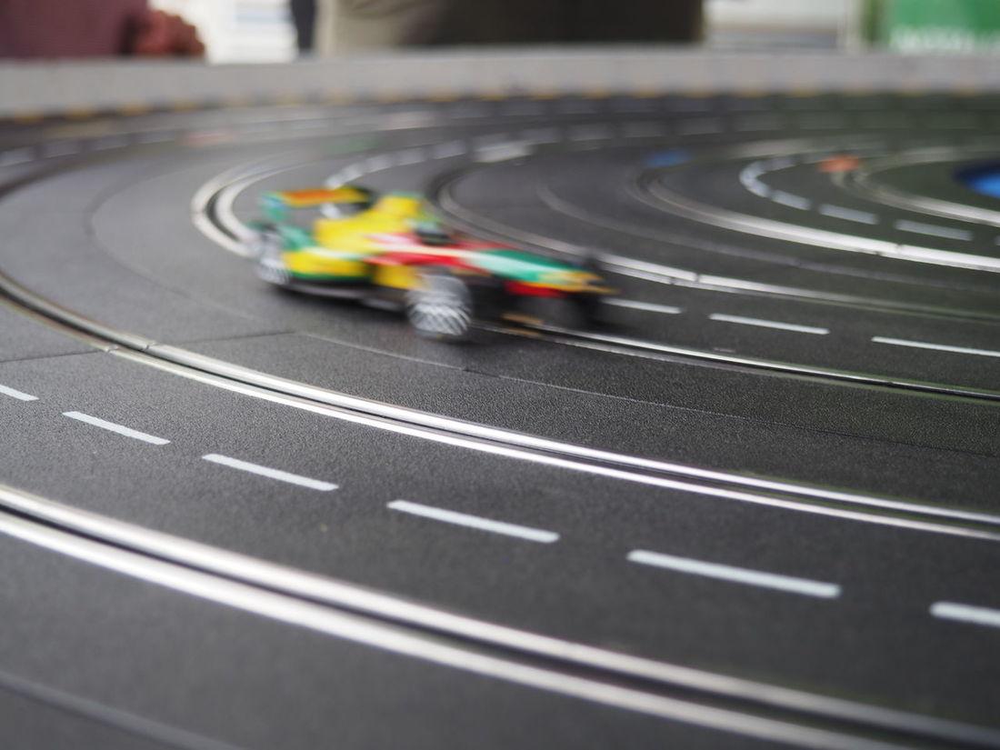 Cars Childhood Close-up Electric Cars F1 Fast Faster Formula E Fun Game Motion Blur Racing Racing Car Railing Retro Future Speed