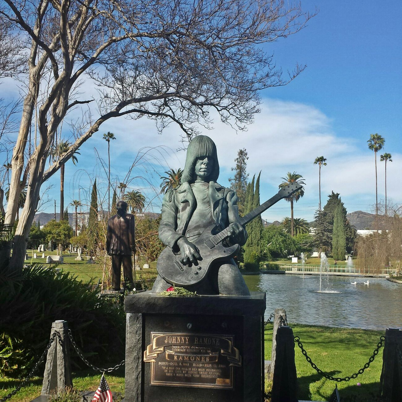 Johnnyramone of Theramones at Hollywoodforevercemetery Best Band Ever