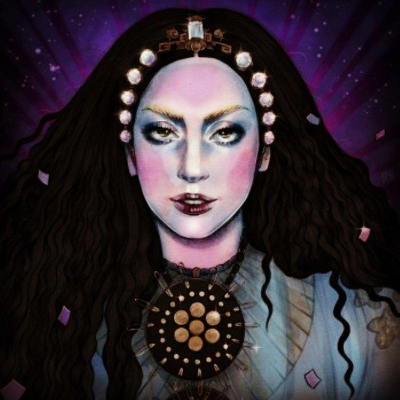 gaga galiano pic by hellen green<3 Ladygaga Drawing Gaga From  Applause hellengreen art pop culture