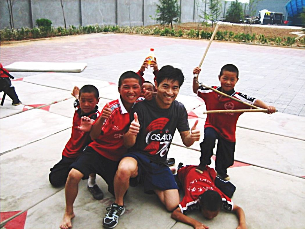 Unlikely Heroes Dengfeng China Shaolinkungfu Martial Arts Selfexpression Heroes throwback 2010 China training with fun and tough kids in Deng Feng