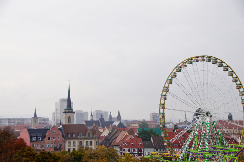 Cityscape Dom Jahrmarkt Postcode Postcards Rethink Things Second Acts Amusement Park Amusement Park Ride Architecture Arts Culture And Entertainment Building Exterior Built Structure City Cityscape Day Dome Ferris Wheel No People Outdoors Sky