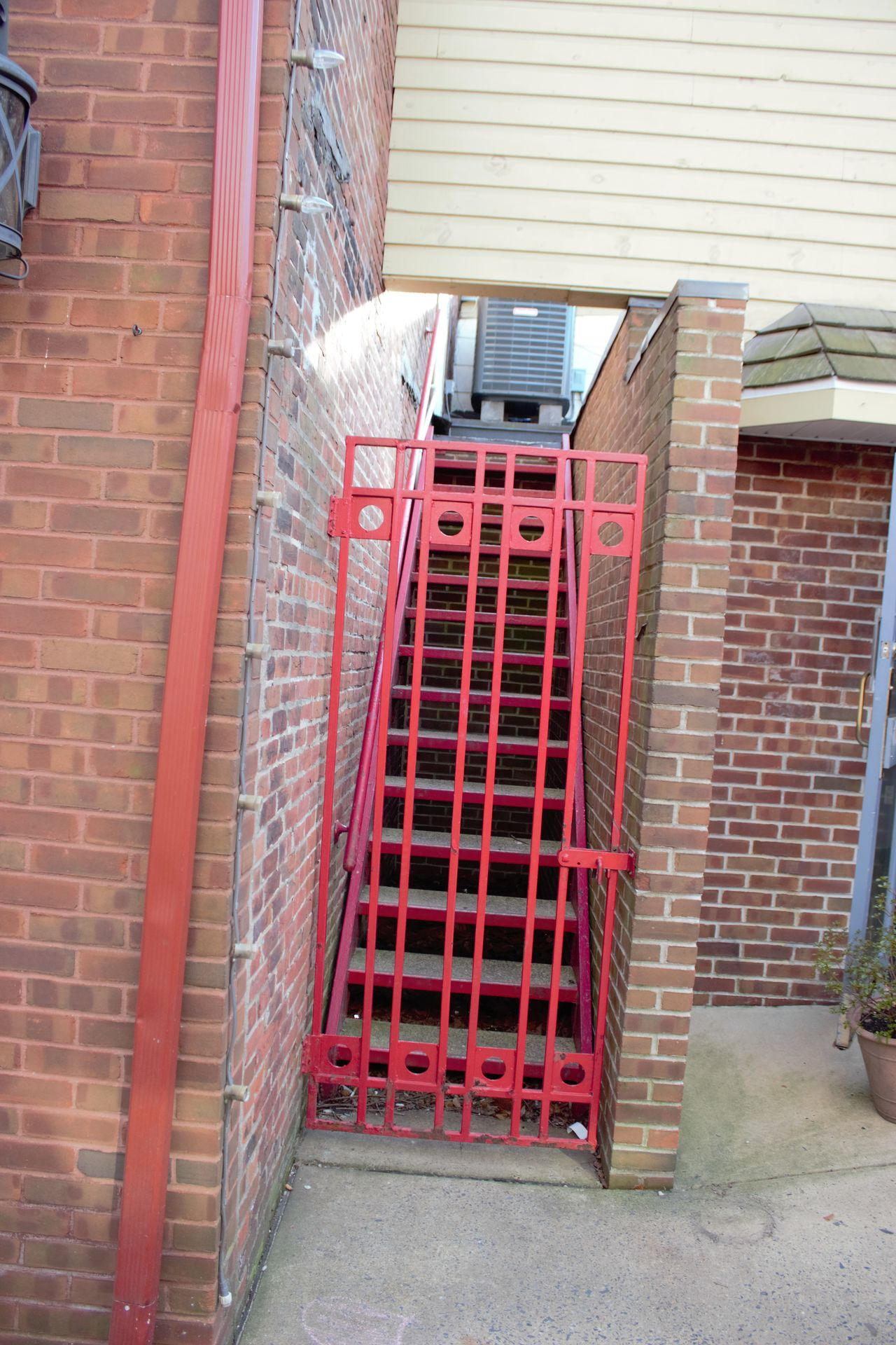 Red Gate Architecture Brick Wall Building Exterior Built Structure Day No People Outdoors Red Red Gate Steps And Staircases