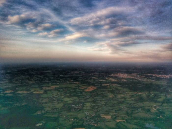 Aerial View Atmosphere Atmospheric Mood Beauty In Nature Cloud Cloud - Sky Cloudy Composition Distant Dramatic Sky Dusk Majestic Orange Color Outdoors Overcast Perspective Scenics Silhouette Sky Sunset Top Perspective Tranquil Scene Tranquility
