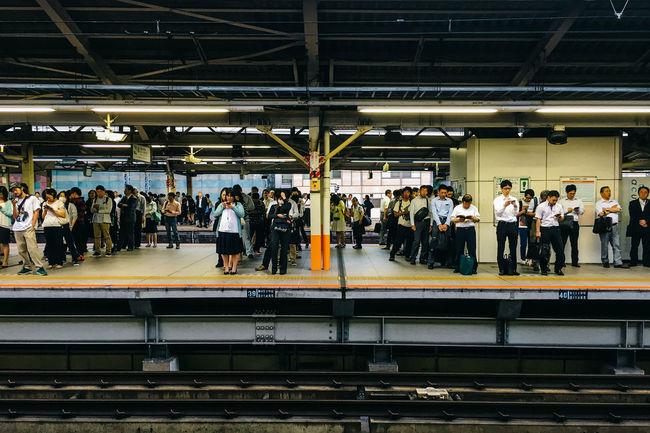 Yokohama JR Station, 2016 Commuting Everybodystreet Japan Large Group Of People Mobilephotography Public Transportation Railroad Station Streetphotography Ultimate Japan Urban Yokohama