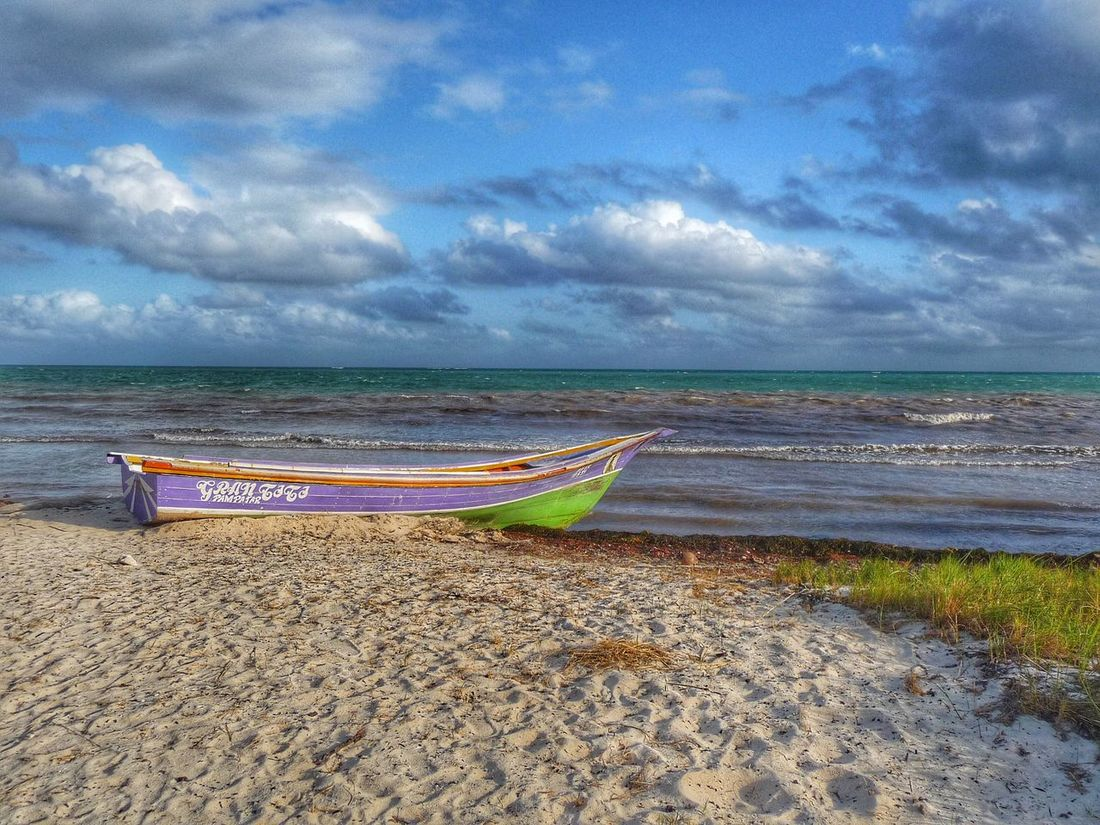 Playa Del Carmen Mexico Seascape Seascapes Nature As Artist Sea Sea View Sky And Clouds Sky Boat Wooden Boat Lonely Boat Landscape Beach Landscapes With WhiteWall Perfect Scenery Beautiful Nature Beautiful Colours Tranquility Perfect Pastels Seaview Seaviewcollection Seaviews Beachscape Glorious
