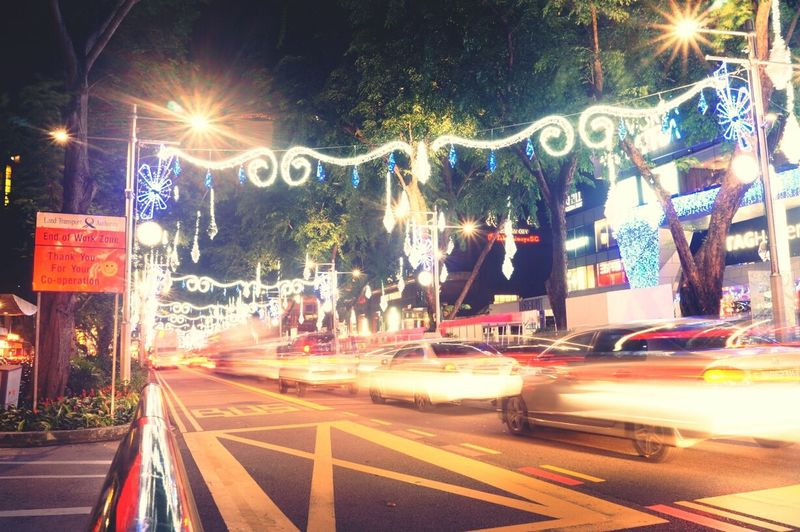 Orchard Road Merry Christmas Night Lights City Lights