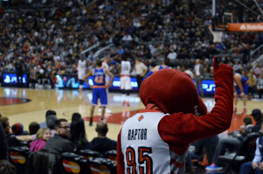 Basketball Front View Fun Leisure Activity Lifestyles Mascot Toronto Toronto Raptors