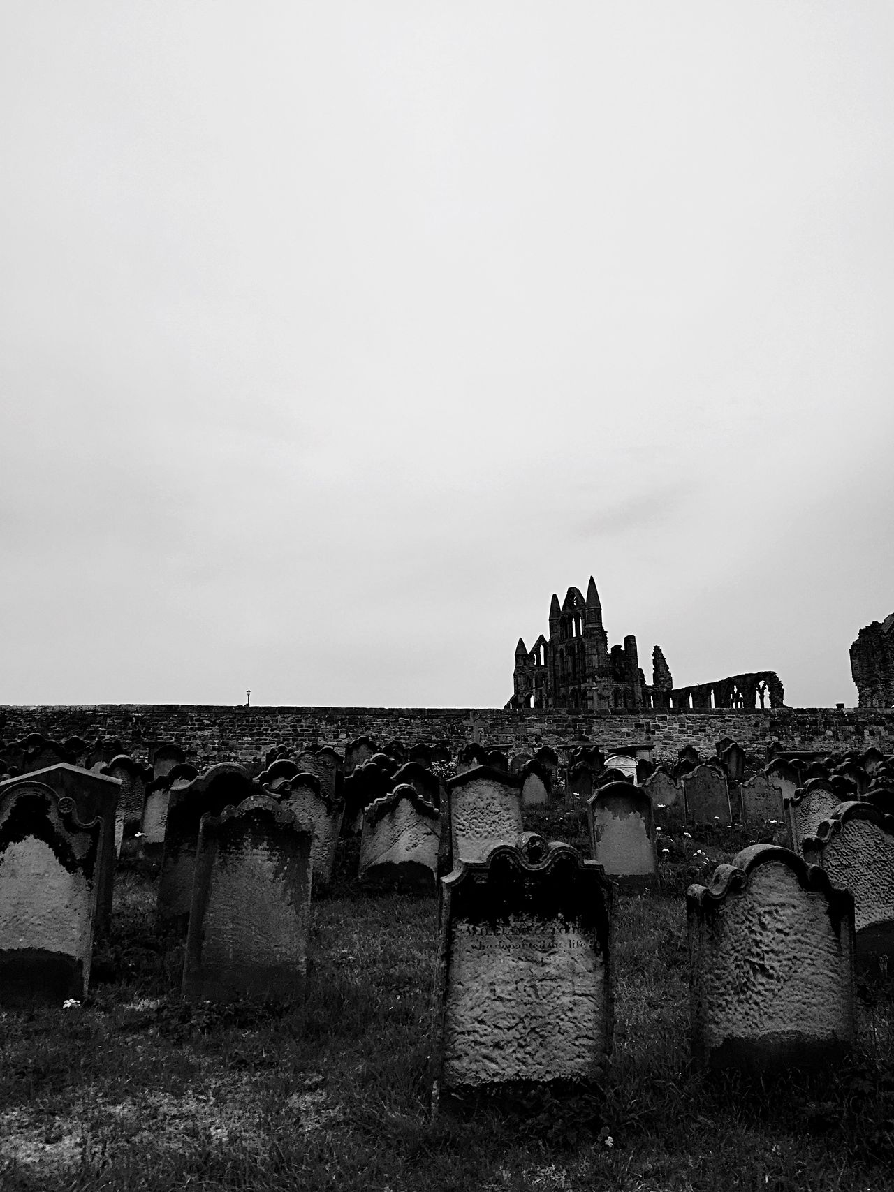 Dracula From Where I Stand Blackandwhite Photography Whitby Black & White Churchyard Headstones Whitbyabbey
