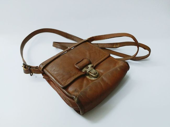 EyeEm Selects Leatherbag Leather Wallet Leather No People Studio Shot White Background Close-up Indoors  Day Old Brown