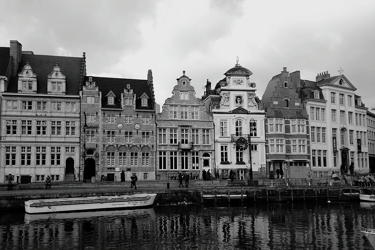 Black & White Black And White Bianco E Nero Gand Gent Belgium Boats Buildings Houses On The Water Houses On The River Architecture Facade Architecture