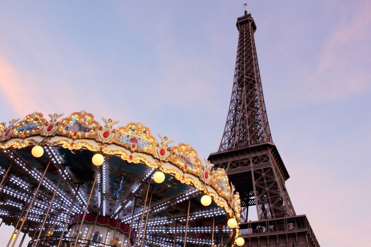 Amusement Park Arts Culture And Entertainment Amusement Park Ride Carousel Low Angle View Ride Sky Outdoors No People Day City Life Cityphotography City Photography Paris Paris Je T Aime Photographylovers Tour Eiffel Eiffel Tower France Cityscapes City Lights Paris, France  Paris ❤ Photooftheday POTD Neighborhood Map