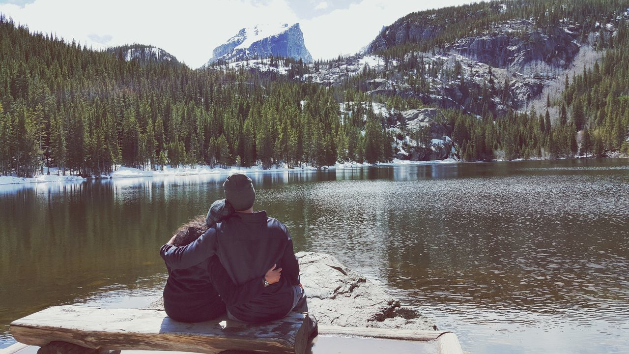 Beautiful stock photos of valentine's day, Arms Around, Bear Lake, Beauty In Nature, Bench