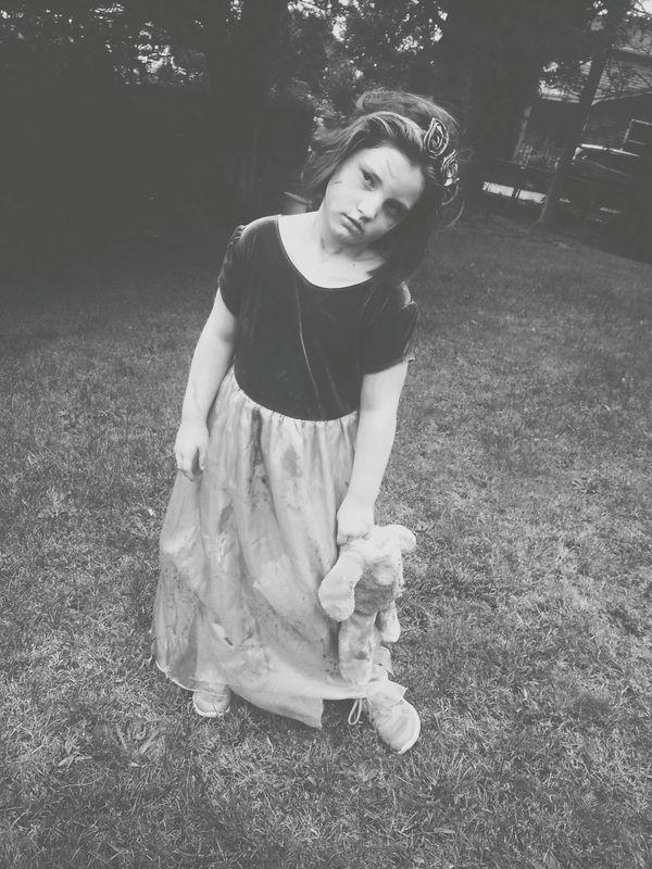 Halloween Fun My Little Girl Wildchild Black And White Creepy