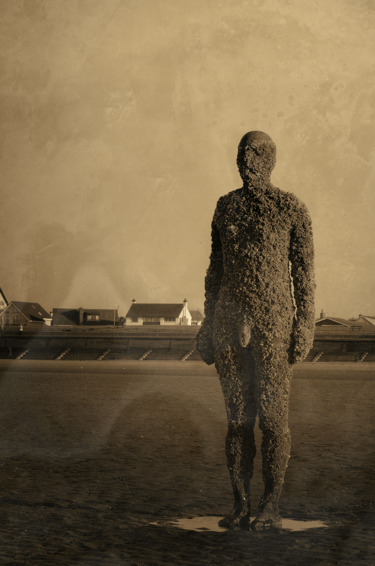 Anthony Gormleys Another Place Art Day Full Length Gormley Men Outdoors People Standing Statue Water Crosby Beach