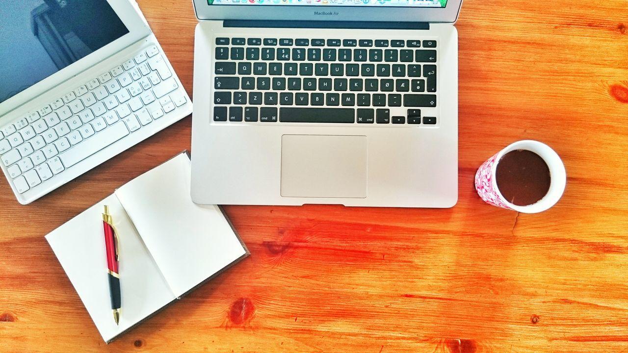 Beautiful stock photos of tastatur, wireless technology, technology, laptop, wood - material