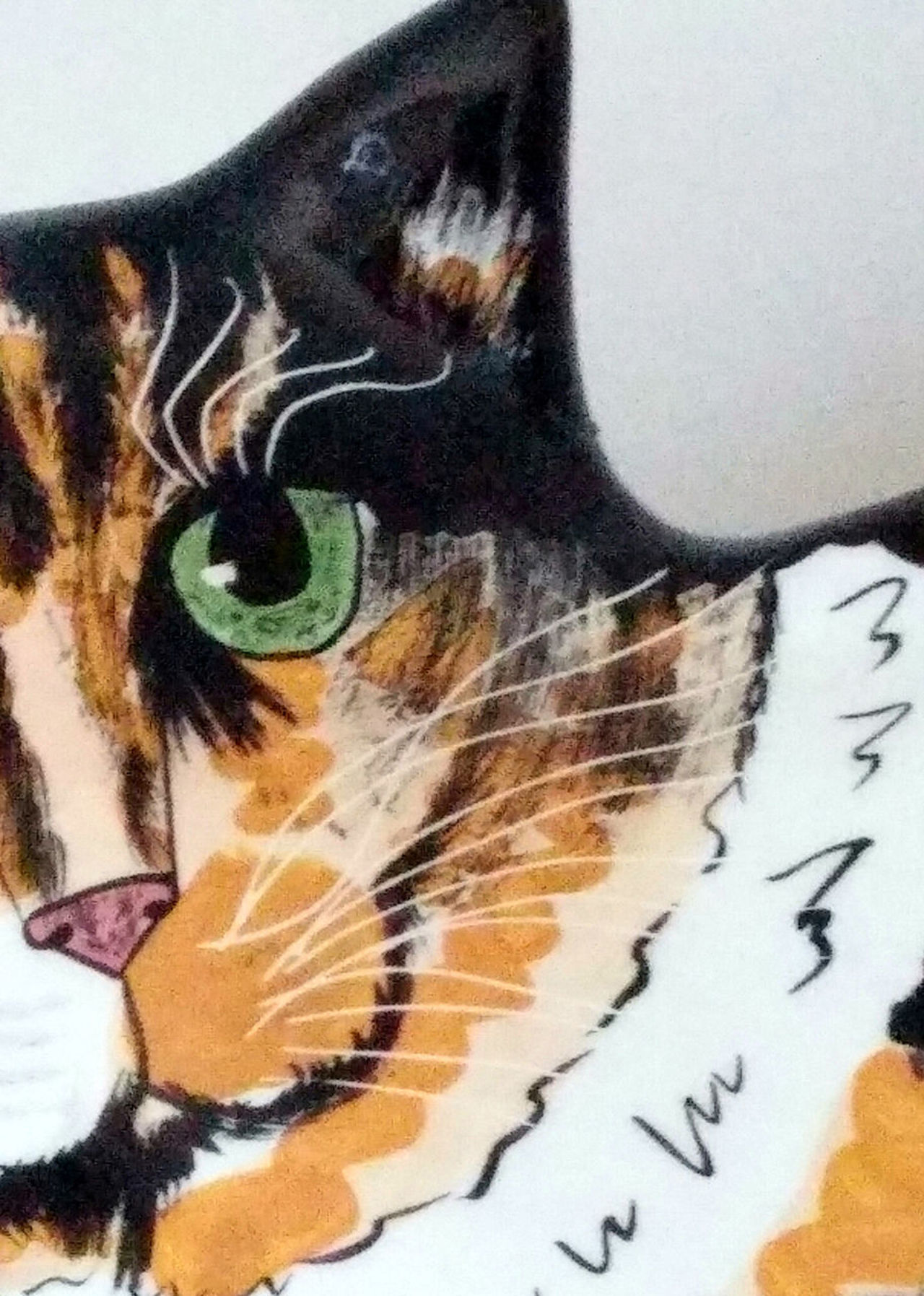Animal Themes Cat Close-up Colorful Ceramic Calico Day Indoors  Mammal No People One Animal