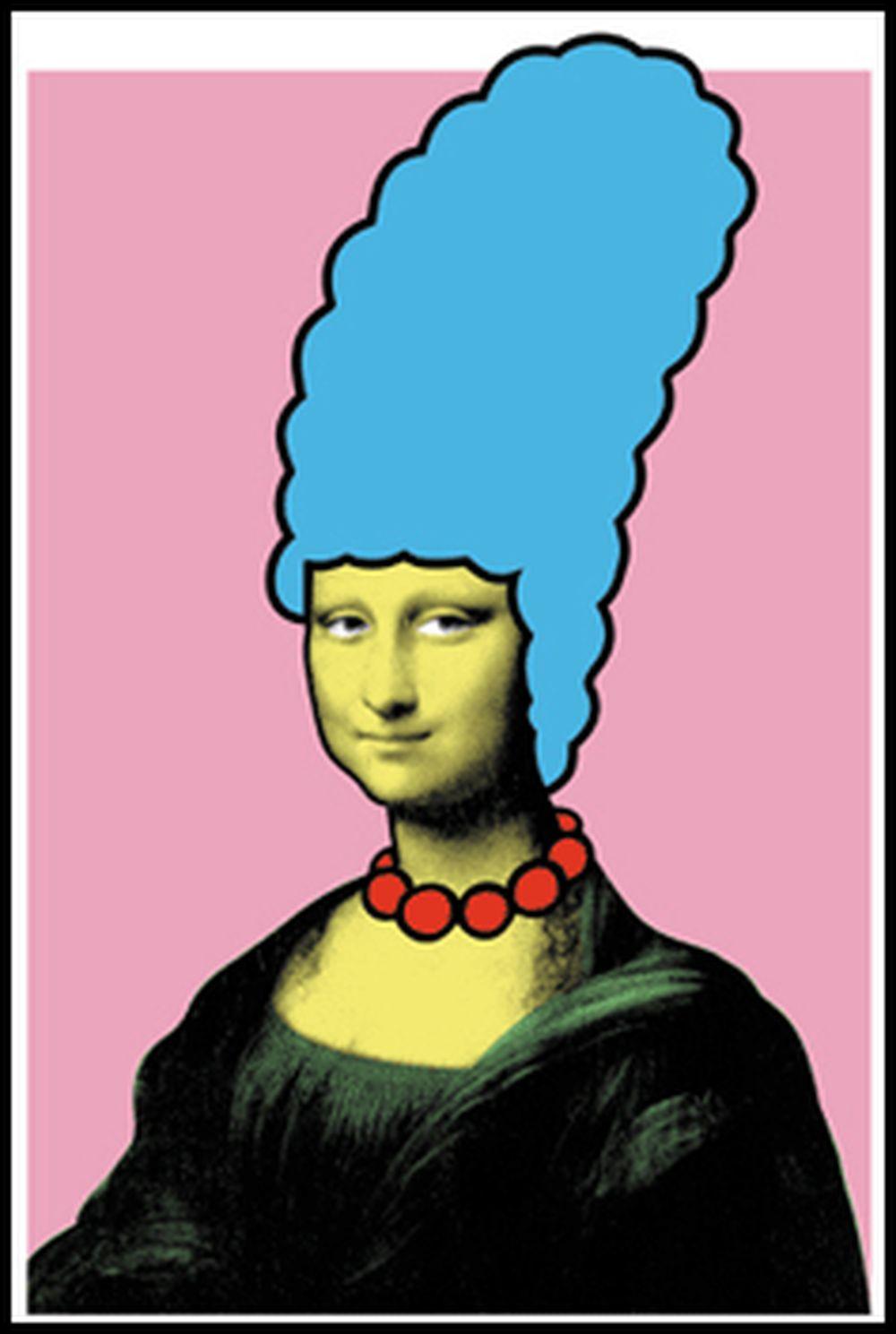 Mona Simpson smiles by Nick Walker Streetart UrbanART