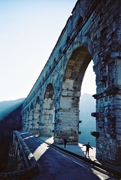 Your Ticket To Europe Aqueduct Built Structure Architecture History Day Clear Sky Travel Destinations Sky Outdoors Nature France France 🇫🇷 Pont Du Gard Travel 1986 Your Ticket To Europe EyeEmNewHere Connected By Travel