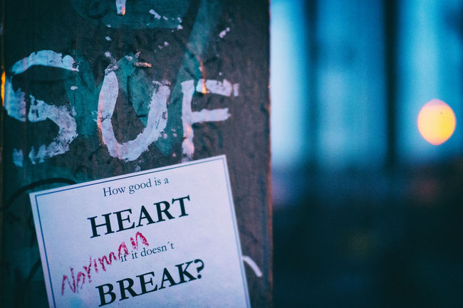 Love Valentine Valentine's Day  Writing Break Breaking Hearts Heart Heartache Paper Text