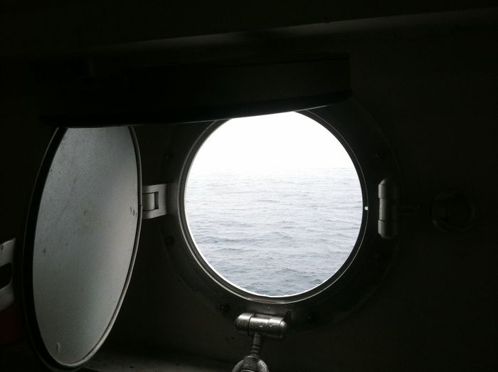 Looking out to the sea from the seap. Looking Out To The Sea Sea Water Window