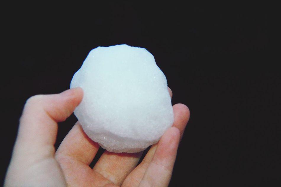 First snowball of 2016🌨 Newtothis Beginnerphotographer Canon1200d Snow