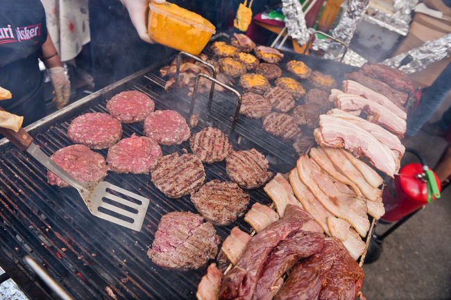 Burger Burgers Cheese Choice Cooking Display Food Freshness Grill Grilling Large Group Of Objects Lifestyles Ljubljana Market Market Stall Nacho Pivo In Burger Fest Pleskavica Preparation  Retail  Sale Small Business Street Food Worldwide Up Close Street Photography The Photojournalist - 2016 EyeEm Awards