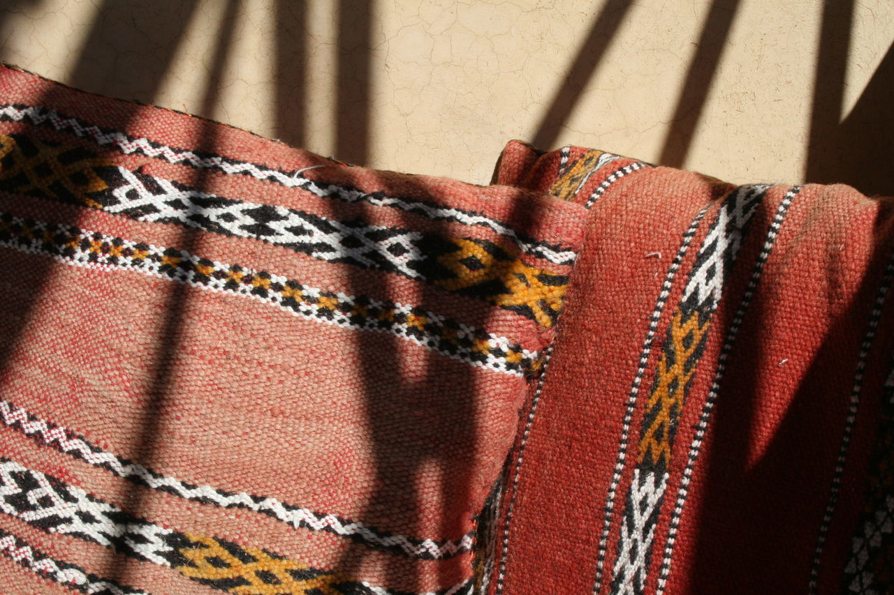 Berbere Close-up Cushions  Fabric Late Afternoon Light Pattern Sunlight And Shadow Textile