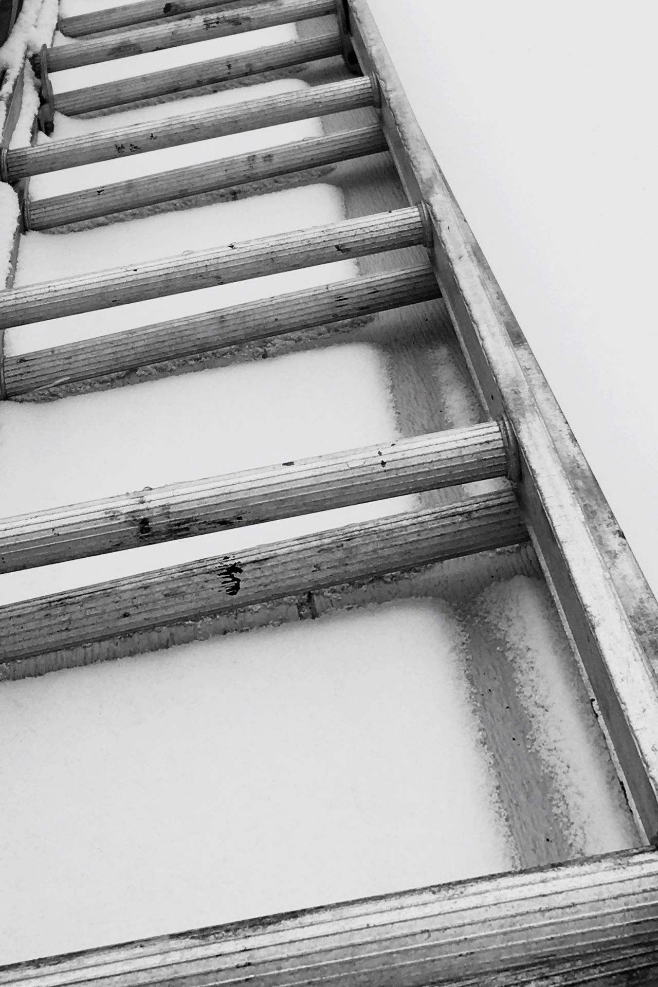 No People Architecture Close-up White Snow Covered NaileditBYKat Black And White Ladder