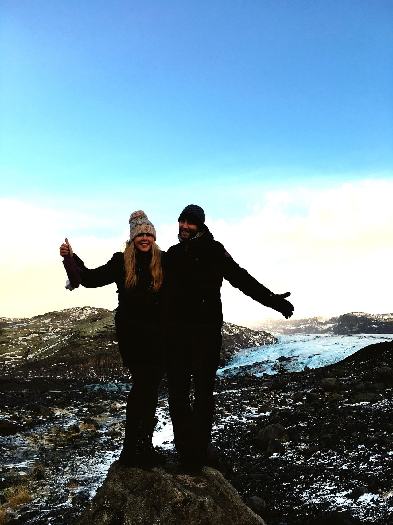 Two People Sky Standing Sea Real People Togetherness Iceland Trip Iceland Glaciers Iceland_collection Looking At Camera Leisure Activity Men Nature Arms Outstretched Lifestyles Outdoors Scenics Full Length Water Happiness Day Portrait