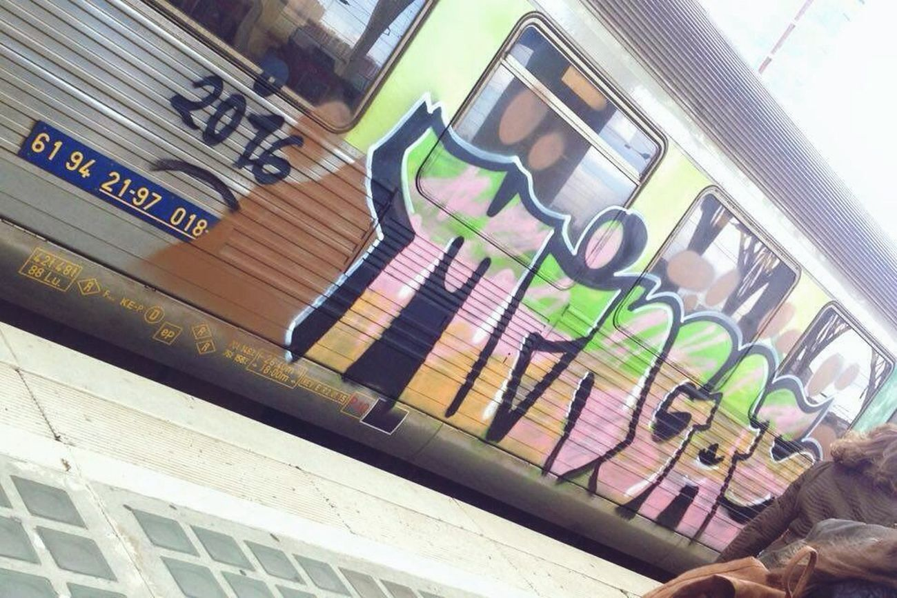 Lisbon Portugal Btl Train Graffiti